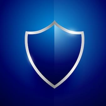 Дизайн значка метки безопасности в синем цвете
