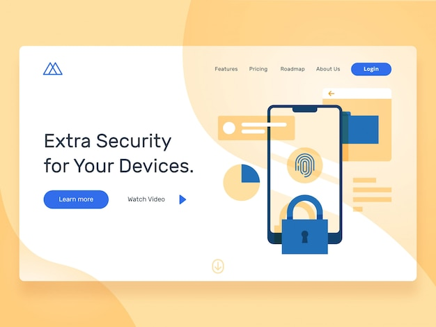 Security landing page hero image