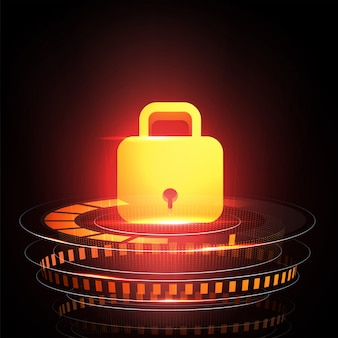Security lock,business concept of data security and protection concept.