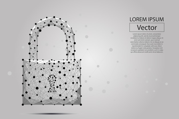 Security lock composed of polygons