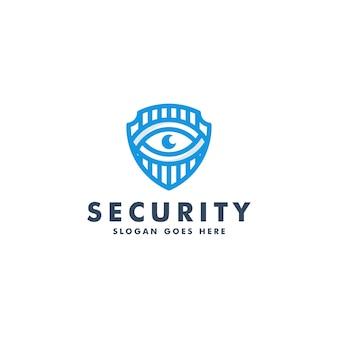 セキュリティロゴデザイン。安全ロゴタイプ