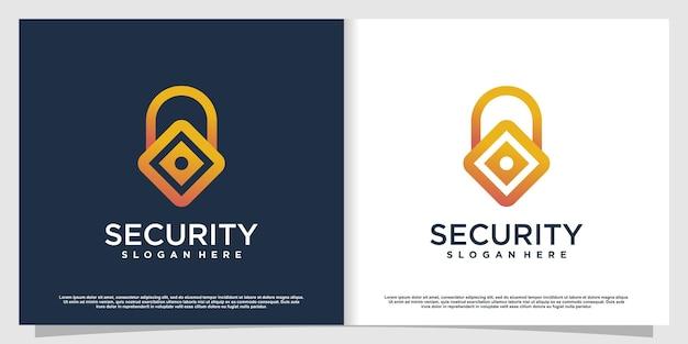 Логотип безопасности в современном стиле premium vector часть 2