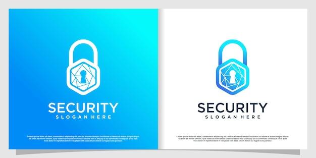 Логотип безопасности в современном стиле premium vector часть 3