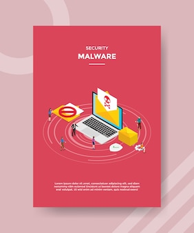 Security malware flyer template