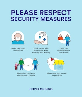 Security measures for crisis covid-19