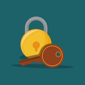 Security padlock and key
