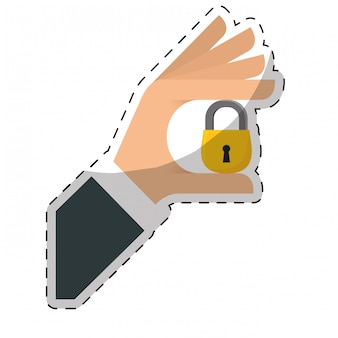 Security or privacy related icons image
