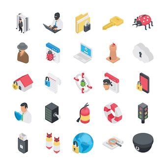 Security and protection icons pack