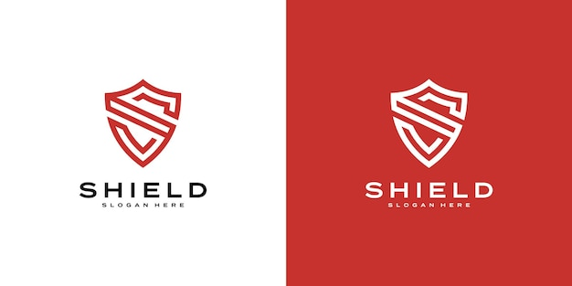 Логотип security shield premium