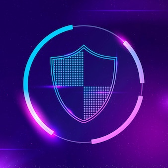 Security shield vector cyber security technology