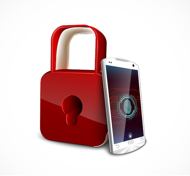 Security system concept with fingerprint