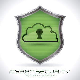 Security system over gray background vector illustration