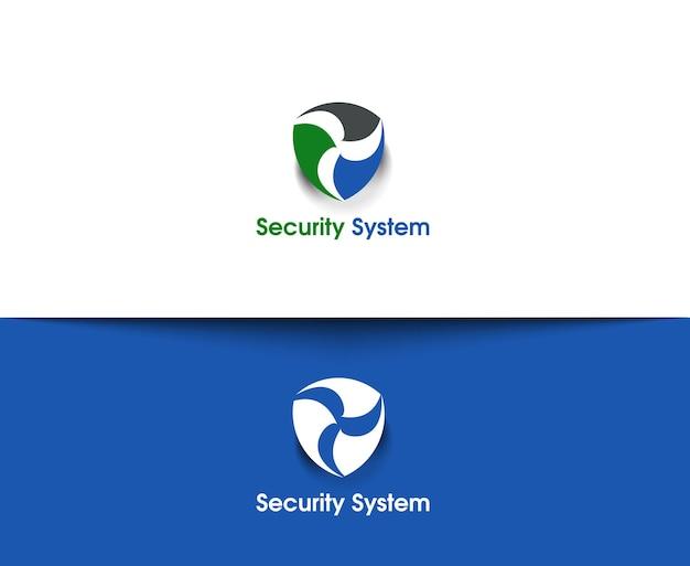 Веб-иконки системы безопасности и абстрактный векторный дизайн логотипа
