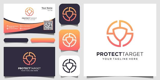 Шаблон дизайна логотипа цели безопасности