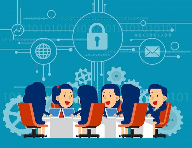 Security team meeting.