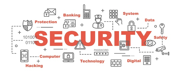 Security vector banner
