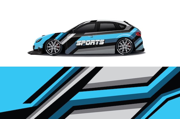 Дизайн наклейки на автомобиль седан