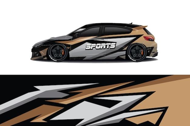 Sedan car decal wrap design