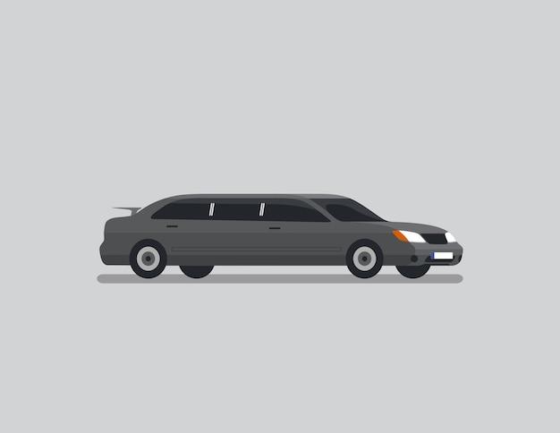Sedan limousine flat vector