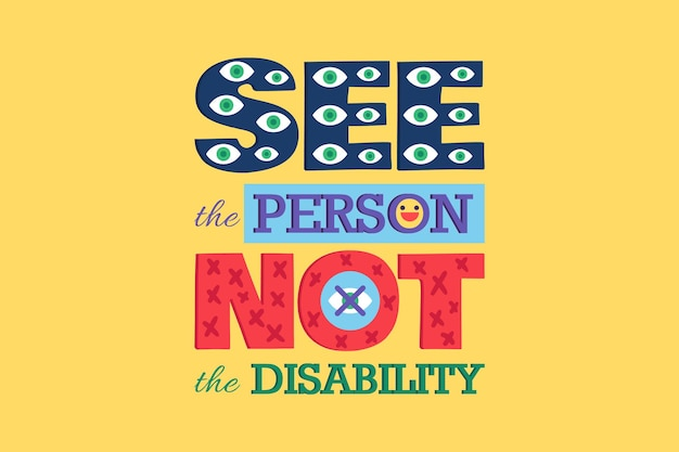 See person not disability poster