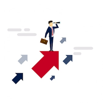 Seeking opportunity business concept illustration