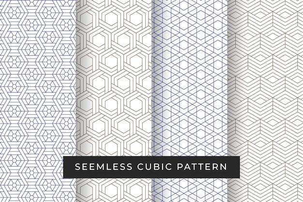 Бесподобный узор кубической или кубической формы для декора или обоев