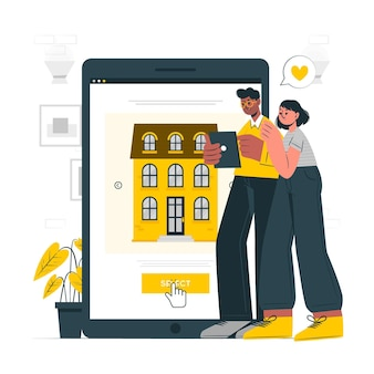 Seleziona l'illustrazione del concetto di casa