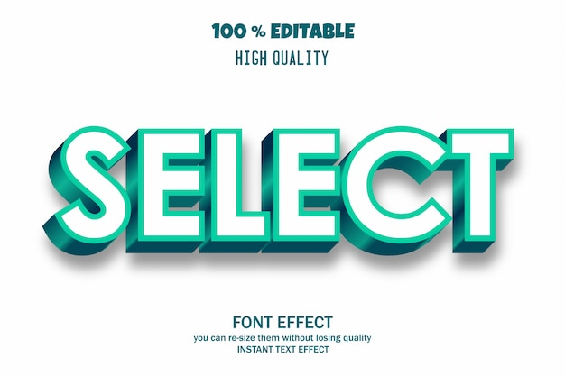 Select text font effect