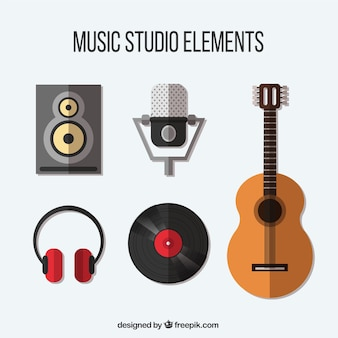 Selecting items related to a music studio