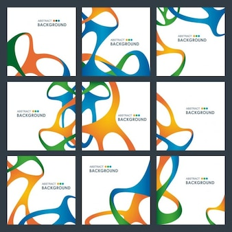 Selection of abstract waves brochures