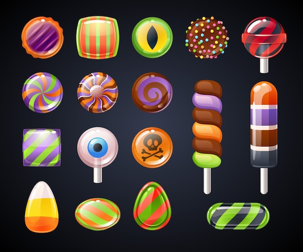 Selection of colorful sweets