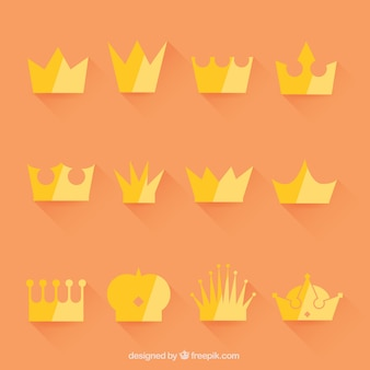 Selection of crowns in minimalist style