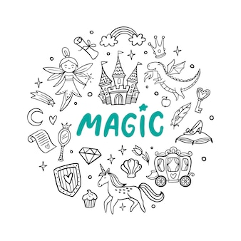Selection of cute magic objects