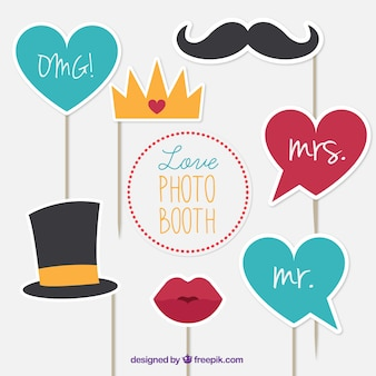 Selection of decorative elements for photos