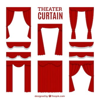 Selection of decorative theater curtains