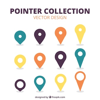 Selection of different pointers in flat style