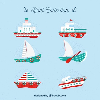 Selection of fantastic boats with red details