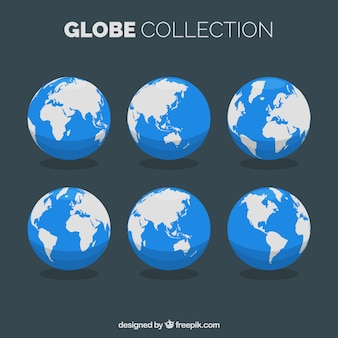 Selection of flat earth globes