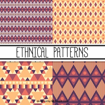 Selection of four ethnic patterns