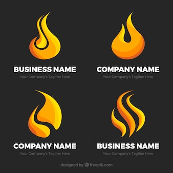 Selection of four flat fame logos