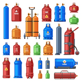 Selection of gas cylinders