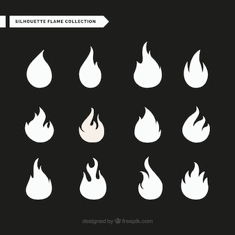 Selection of great flame silhouettes
