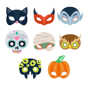 Selection of halloween party masks