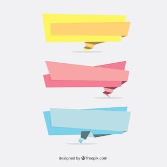 Selection of irregular ribbons