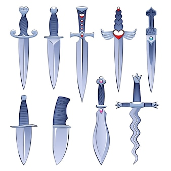 Selection of knives and daggers
