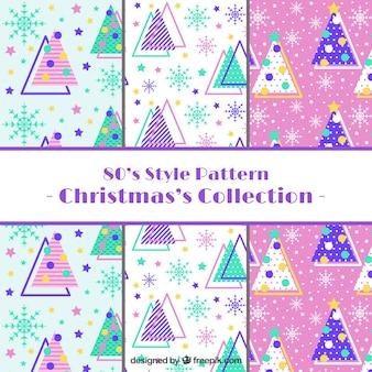 80 년대 스타일의 크리스마스 패턴 선택