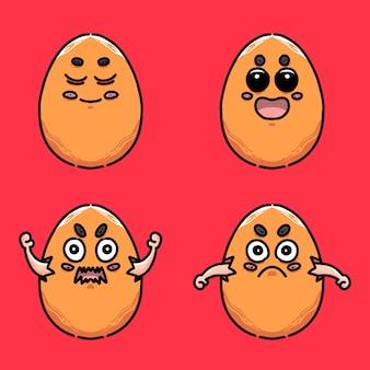 Выбор яиц в мультяшном стиле