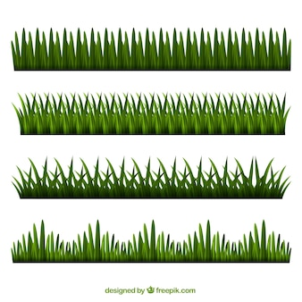 Selection of realistic grass borders