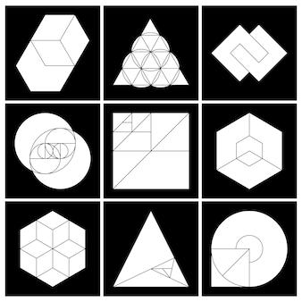 정사각형 기하학적 마스크 선택