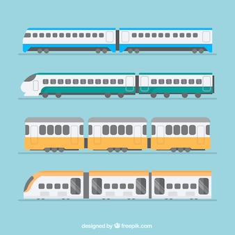 Selection of trains in flat design